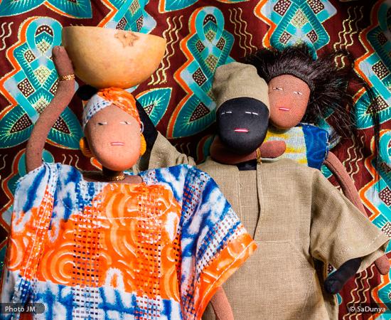 Fatoumata, Assane et Aby de SaDunya