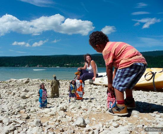 La famille saDunya à la découverte Lac de Joux , Vaud - Jura, Suisse