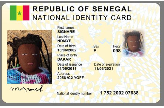 Mamie's ID Card