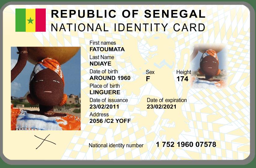 Fatou's ID Card